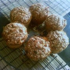 Oat and Apple Streusel Muffins Apple Streusel, Apple Muffins, How To Cook Rice, Pumpkin Cookies, Muffin Cups, Yummy Food, Allrecipes, Baking, Breakfast