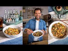 Pad thai, a világ egyik legkirályabb kajája! International Recipes, Wok, Food To Make, Paleo, Mint, Cooking, Breakfast, Youtube, Low Gi