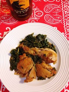 The Lush Chef: Braised Chicken & Kale in White Wine
