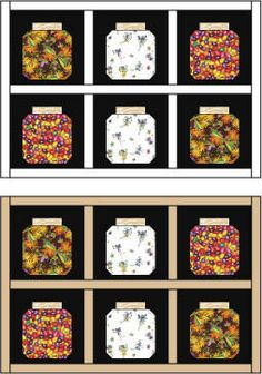 Bug Jar Quilt. This would be so cute with the fabric that i saw with ants all over it