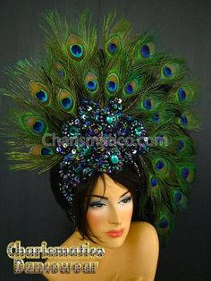 Charismatico Dancewear offers a selection of sequin and balroom dresses, drag queen and cabaret costumes. Buy your dancewear online and save up to Flower Headdress, Feather Headpiece, Peacock Costume, Peacock Dress, Broadway Costumes, Cabaret Costumes, Dresses For Apple Shape, Mardi Gras Costumes, Showgirls