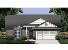 Cottage House Plan with 1366 Square Feet and 3 Bedrooms from Dream Home Source | House Plan Code DHSW32143