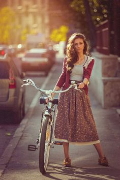 Lace hem floral midi skirt, grey top, lace trim burgundy cardigan,  brown flats and brown belt
