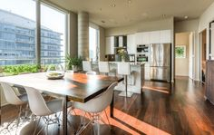 Address: 55 East Liberty Street The penthouse is one of just five in this Liberty Village building, whose amenities include a concierge, a gym, an indoor pool and a party room Pent House, Outdoor Dining, Terrace, Liberty, Condo, Real Estate, Indoor, Concierge, Table