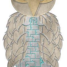 Metallic Look Owl