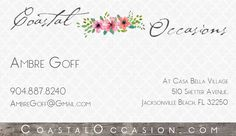 Citadel church stand up banner for the pastor and his wife coastal occasions business card the best wedding venue and planning services in jacksonville beach fl reheart Image collections