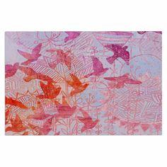 "Marianna Tankelevich ""Bird's Dream"" Lavendar Pink Decorative Door Mat"