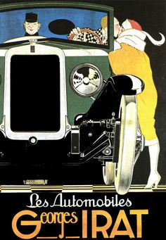 * Automobiles Georges IRAT Affiche 1923 René Vincent (1879-1936)