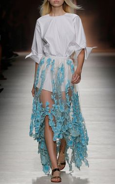 Blumarine Trunkshow Look 34 on Moda Operandi. This is a little crazy but I just need to spin around in it once ok?