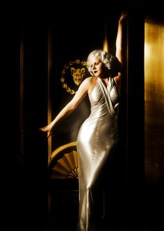 "Jean Harlow publicity shot for ""Dinner at Eight"" design by Adrian photo by…"