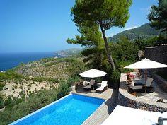 Loma-asunnot ja talo Deia, Espanjassa   4 makuuhuonetta, vuodepaikkoja 10 - Fantastic talo Deia, Palma de Mallorca. Taianomainen näköala merelle ja vuorille!