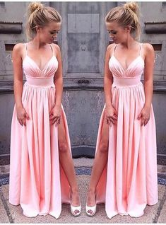 A-Line/Princess Sleeveless Straps Floor-Length Ruched Chiffon Dresses - Prom Dresses - Hebeos Online Cheap Formal Dresses, Gold Prom Dresses, Black Bridesmaid Dresses, Prom Dresses For Sale, A Line Prom Dresses, Lace Evening Dresses, Evening Gowns, Chiffon Dresses, Wedding Dresses