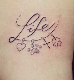 Tatoo Life amor pegada cruz trevo