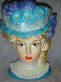 Vintage Victorian Teen Headvase