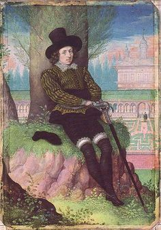 Miniature of an Unknown Man by Isaac Oliver, c.1595. (The Royal Collection)