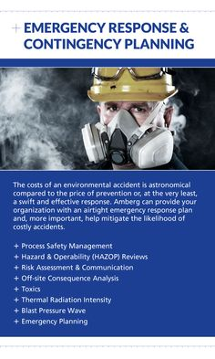 Contact Amberg for Emergency Response & Contingency Planning at (403) 247-3088 or visit us online at www.amberg.ca
