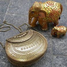 bolsa de metal dourado, bohobag metal gold