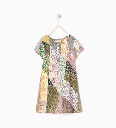 ZARA - COLLECTION AW15 - Patchwork dress
