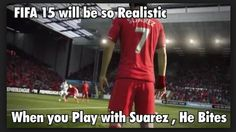 He bit me two times already...  My website http://www.fifatipsandtricks.net to stop Suarez from biting!!
