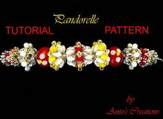 Tutorial/Pattern PANDORELLE This Tutorial will show you step by step how to make 5 different beaded beads design for your Pandorelle bracelet.