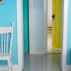 Colored doors