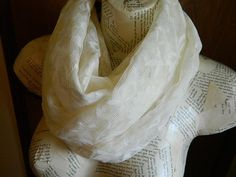 Scarf Womans lace Infinity on Etsy, $16.00