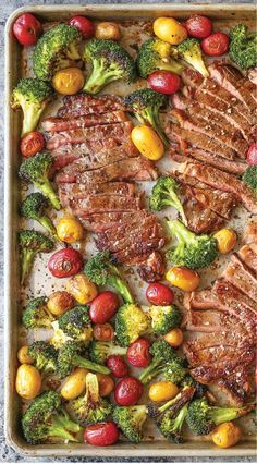 Sheet Pan Steak & Broccoli Other fabulous recipes here too. I promise!