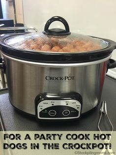 For A Party Cook Hot Dogs In The Crockpot!