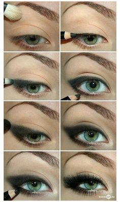 """How to"" achieve the perfect smokey cat eye. #makeuptricks I've Gotta Try This One, Wit Some Cra Cra Colors!!!!!!!!! Than I'll Put It On Here!!!!! N"