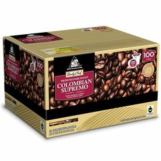 daily chef colombian supremo keurig 100 kcups medium dark roast coffee bulk dailychef - K Cups Bulk