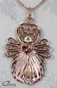 Pingente Samira joias com significado - Joias plated com 10 camadas de ouro rose 18k