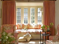 house beautiful little nests - coral + windowseat