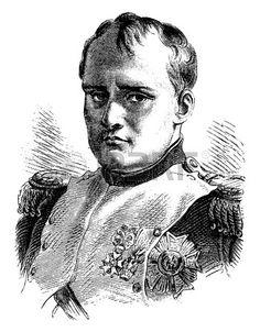 Napoleon, vintage engraved illustration. History of France – 1885.