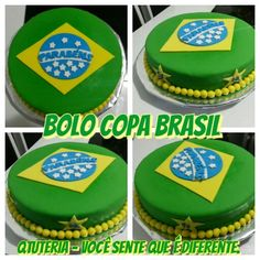 Bolo Copa Brasil Birthday Party Themes, Birthday Cake, Soccer Party, Themed Cakes, Brazil, Safari, Party Ideas, Desserts, Food