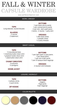 Fall & Winter Capsule Wardrobe Plan via adifferentfashion.com