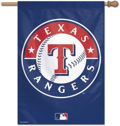 Texas Rangers Vertical Banner Flag