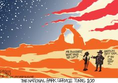 This Pat Bagley cartoon appears in The Salt Lake Tribune on Sunday, Aug. Park Service, American History, Cartoons, Movie Posters, Cartoon, Animated Cartoons, Film Poster, Us History, Popcorn Posters