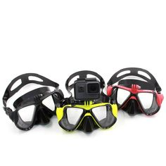 Cheap for gopro hero, Buy Quality telesin 6 directly from China telesin xiaomi Suppliers: TELESIN Diving Mask Scuba Dive Snorkel Swimming Googgles Tempered Glasses for GoPro Hero 6 5 4 3 Xiaomi Yi SJCAM EKEN