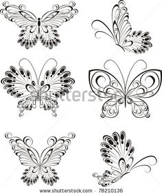 Illustration about Illustration black and white butterfly. Illustration of decorative, drawing, ideas - 27545777 Quilling Butterfly, Butterfly Drawing, Butterfly Tattoo Designs, Butterfly Illustration, White Butterfly, Butterfly Flowers, Lotus Flower, Butterflies, Coloring Books