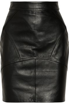 T by Alexander Wang | Stretch-leather pencil skirt
