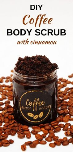 This homemade coffee scrub will make your legs smoother and will reduce appearance of cellulite. This DIY body scrub recipe includes ground coffee, sugar, cinnamon and coconut oil. Even though this is a coffee and coconut oil scrub recipe, it does n Body Scrub Recipe, Sugar Scrub Recipe, Diy Body Scrub, Sugar Scrub Diy, Diy Scrub, Best Body Scrub, Coconut Oil Scrub, Coconut Oil Coffee, Homemade Coffee Scrub
