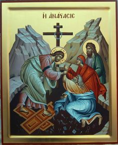 The Resurrection of Christ Religious Pictures, Religious Icons, Religious Art, Christ Is Risen, Life Of Christ, Religious Paintings, Jesus Resurrection, Orthodox Icons, Sacred Art
