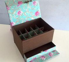 Maleta Cartonagem Esmaltes Floral