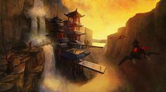 futuristic hidden temple