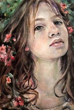 """Oil Painting Original by Moonglance OOAK 4""""x6"""" Small Portrait 