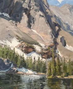skip whitcomb paintings | Skip #Whitcomb, The Loch, Summer , Rocky Mountain National Park ...