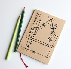 screenprinted sewing journal from cutiepiecompany $10 #etsy #sewing #journal