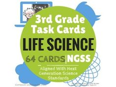 More than just multiple choice!  64 task cards to use when teaching the Next Generation Science Standards. 3rd Grade.