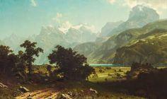 Le Prince Lointain: Albert Bierstadt (1830-1902), Lake Lucerne - 1858