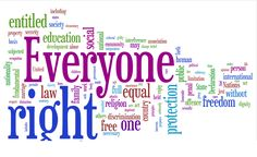The Universal Declaration of Human Rights as a Wordle
